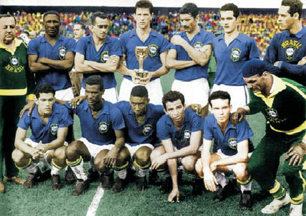 30. Only once has a non-European team won a World Cup held in Europe – in which decade did this happen? 1950′s (58 – Brazil won in Sweden)