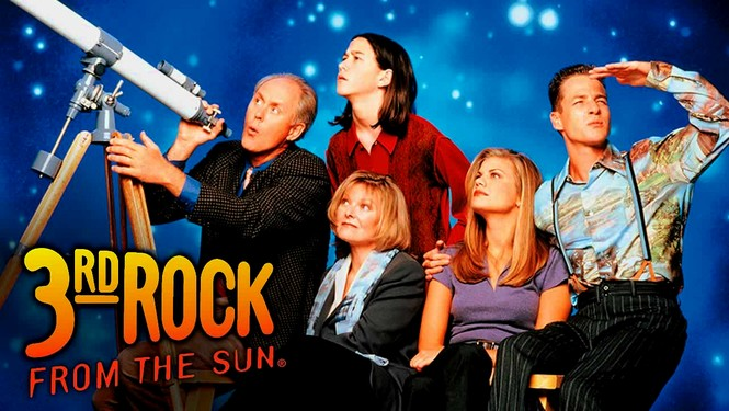 37. Which American TV comedy starring John Lithgow, aired in the UK on Virgin and the SyFy channels, revolved around the Solomon family, four extraterrestrials who were on an expedition to Earth to observe the behavior of human beings? 3rd Rock From The Sun