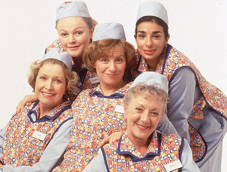 33. Who wrote and starred in Dinner Ladies on TV? Victoria Wood