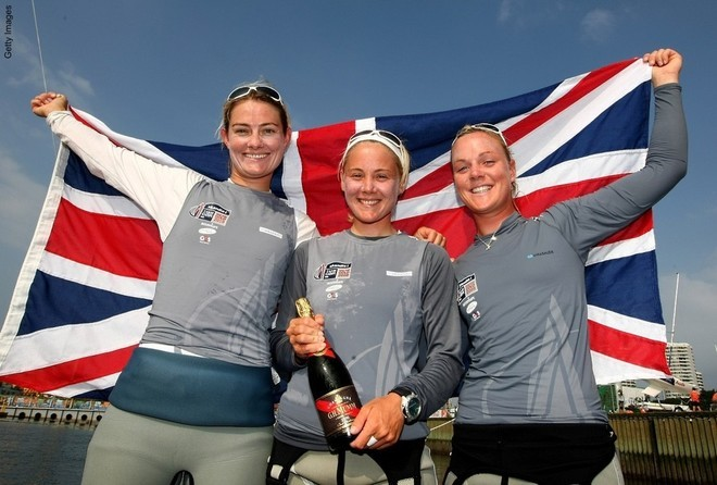29. What collective nickname was given to 2008 Olympic Sailing Gold Medalists, Sarah Ayton, Sarah Webb, and Pippa Wilson? Three Blondes in a Boat