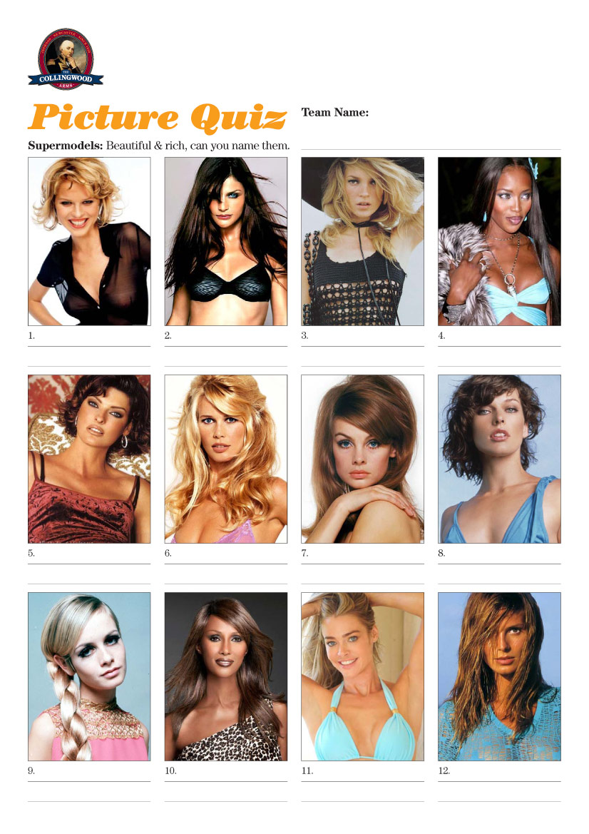 Supermodels… gorgeous and rich, but could you name them?