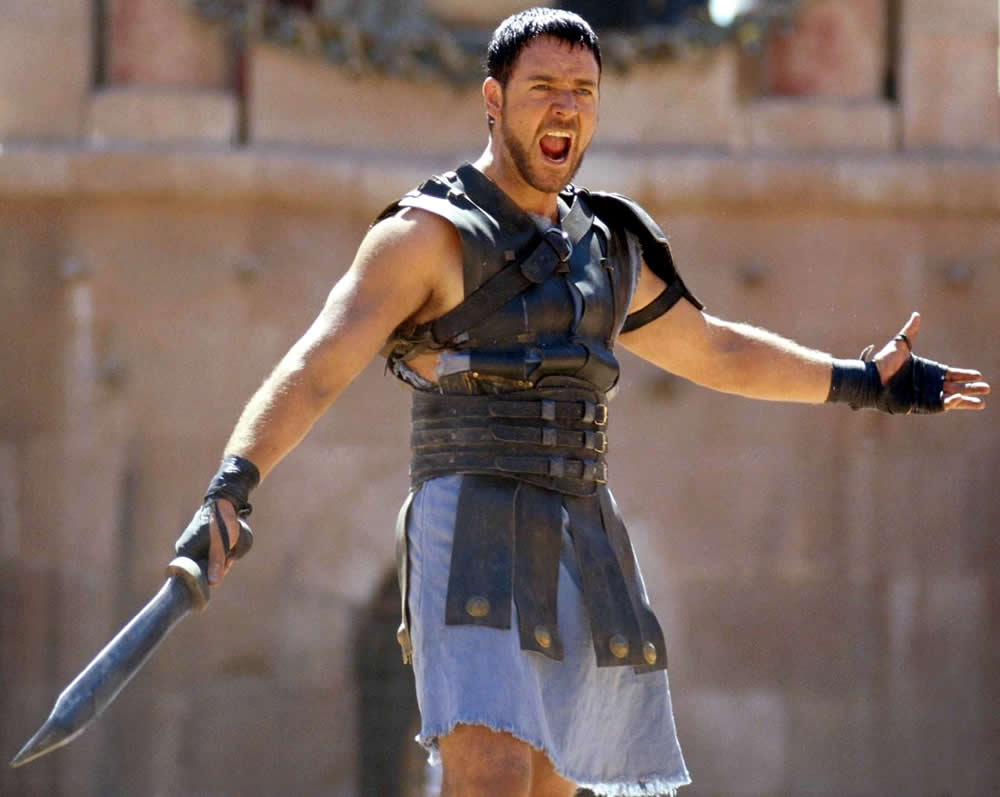 32. What is the name of Russell Crowe's character in 'Gladiator'? Maximus Decimus Meridius