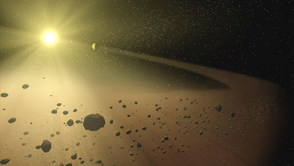 5. Between the orbits of which two planets does the asteroid belt lie? Mars & Jupiter