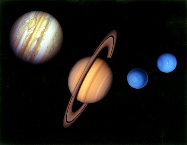 4. How many gas planets are there in the solar system? Four