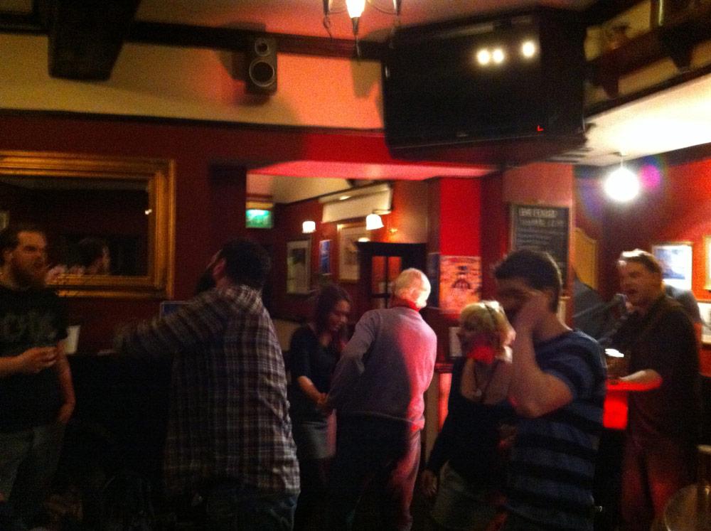 Even the regulars were up dancing!