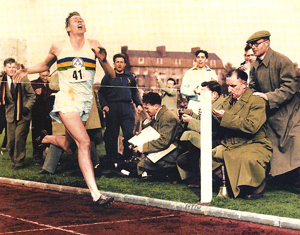 Q21 In which city did Roger Bannister become the first person to break the 4 minute mile barrier? Oxford