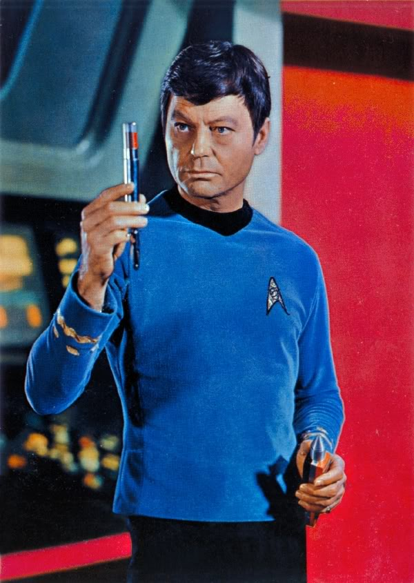 Q34. Who played Dr. McCoy in the original Star Trek TV series? De Forest Kelly