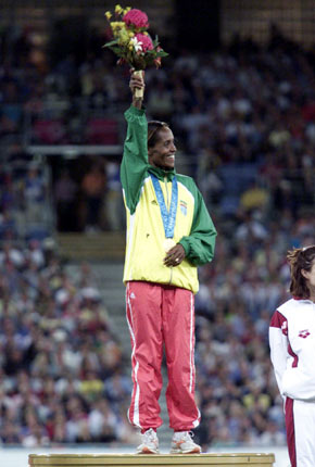Q28 What (grueling) event in Barcelona 1992 saw Derartu Tulu of Ethiopia become the first black African woman Gold Medal Winner? 10,000 meters