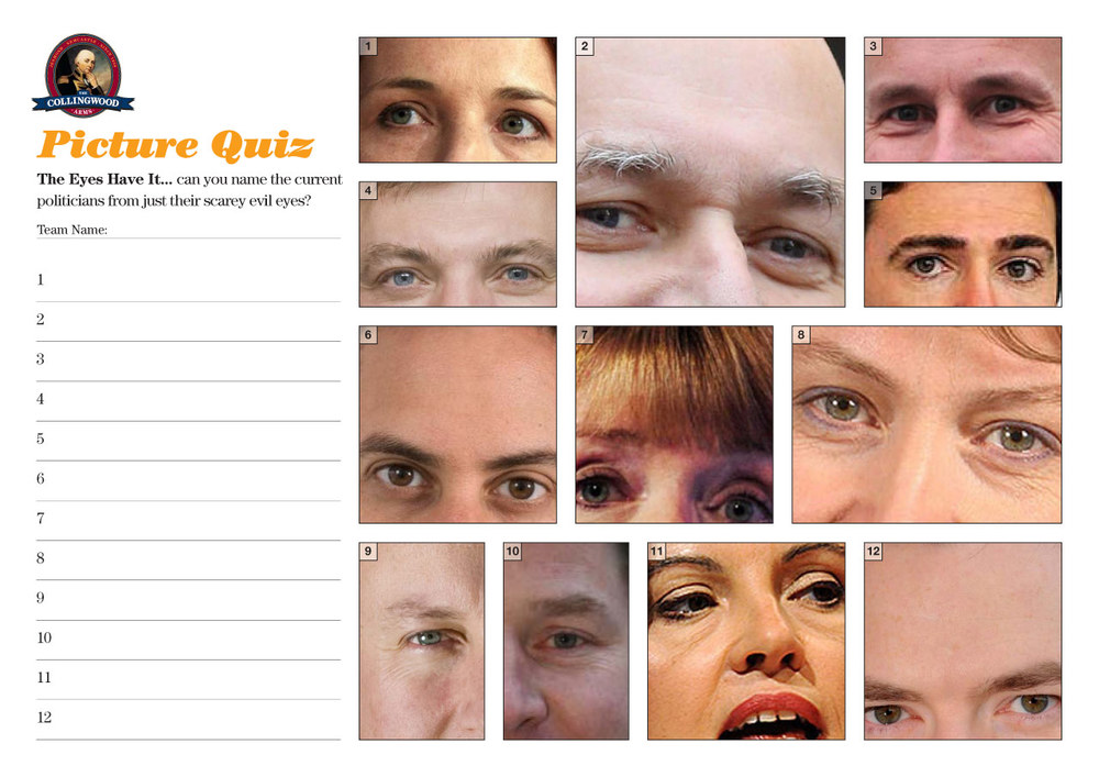 The Eyes Have It... Can you guess the current politicians from their scarey evil peepers?