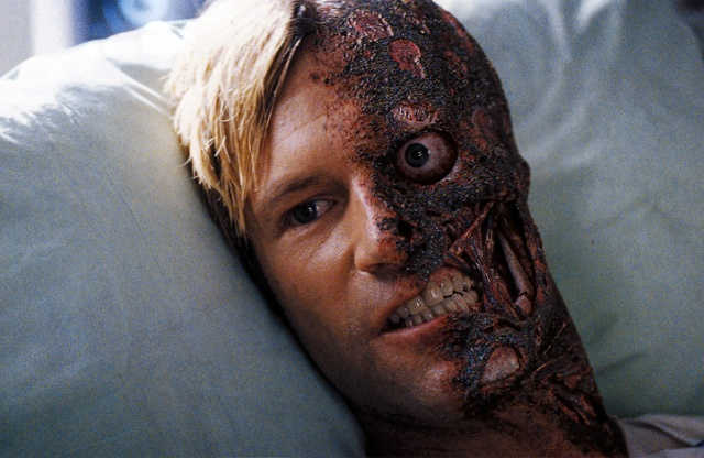 Q39 Which character did actor Aaron Eckhart play in the 2008 film The Dark Knight? Harvey Dent