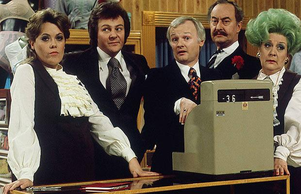 Q32 Mrs Slocombe and Captain Peacock featured in which classic 70's TV Comedy series? Are You Being Served?