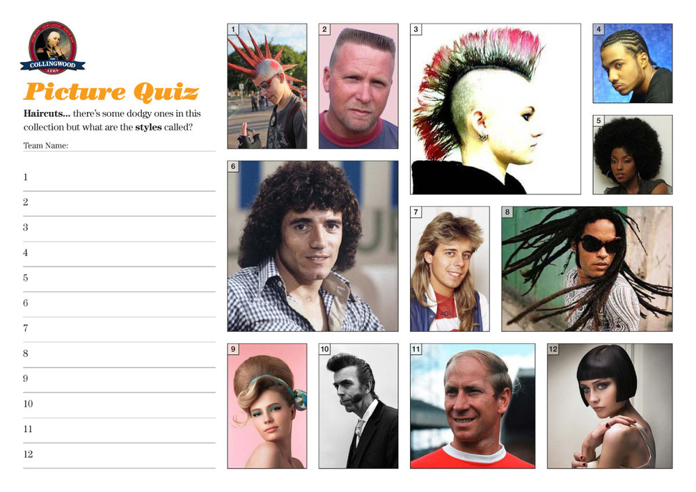 """This weeks clue on the  preview  was """" do you know your bangs from your mullets ?"""""""