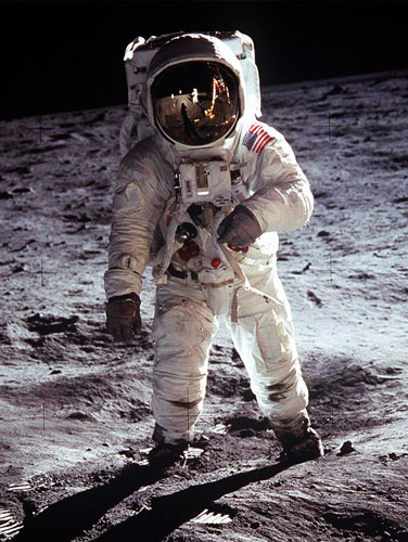 On which area of the moon did Armstrong, Aldrin and Collins make their landing on 20 July 1969? Sea of Tranquility