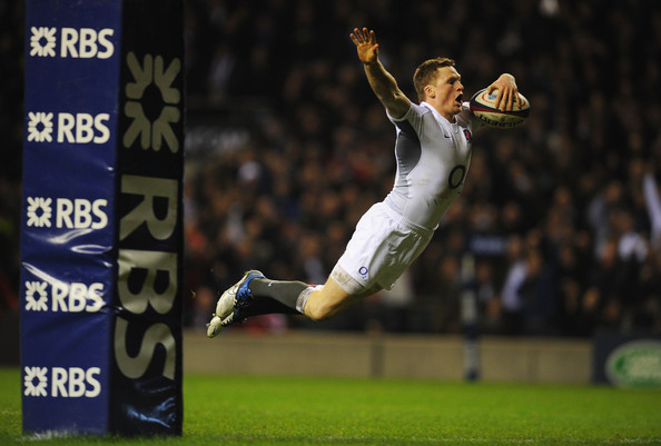Q29 Which England Rugby Union player is famous for his swan dives when scoring a try? Chris Ashton