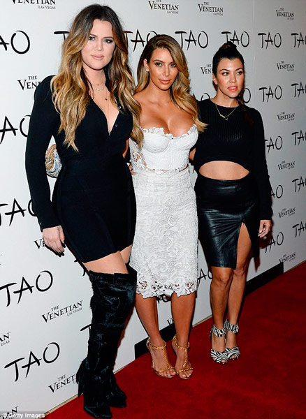 Q35 What are the names of Kim Kardashian's two full sisters? Kourtney & Khloé