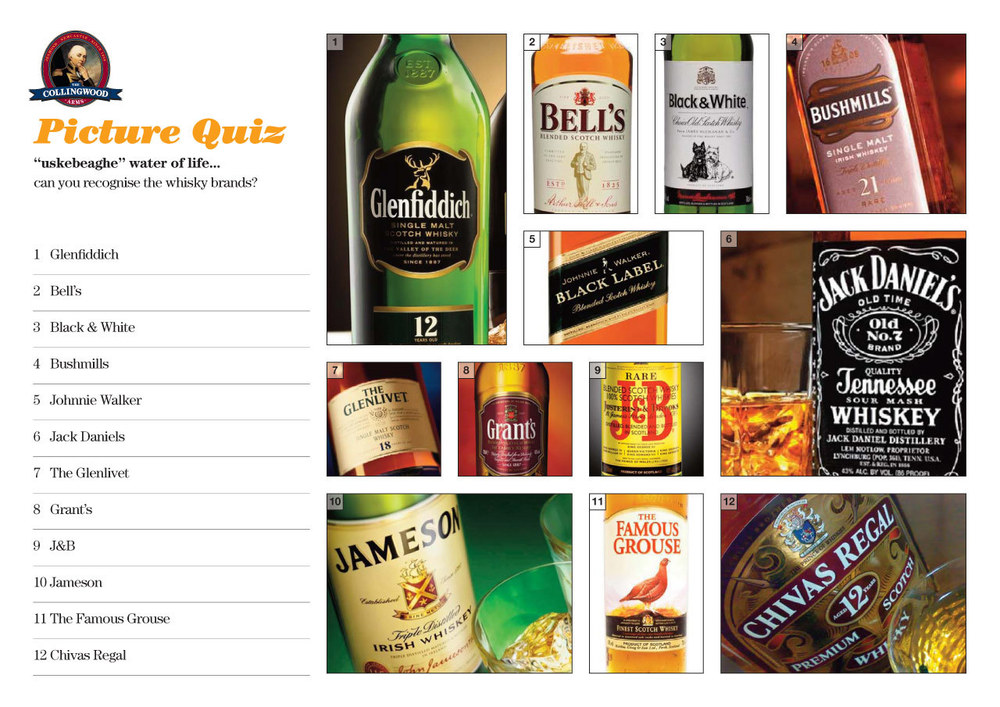 We've obviously got some whisky connoisseurs in the Quiz!