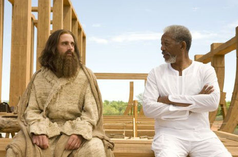 Q38 What is the name of the 2007 (religious) comedy film starring Morgan Freeman and Steve Carell? Evan Almighty