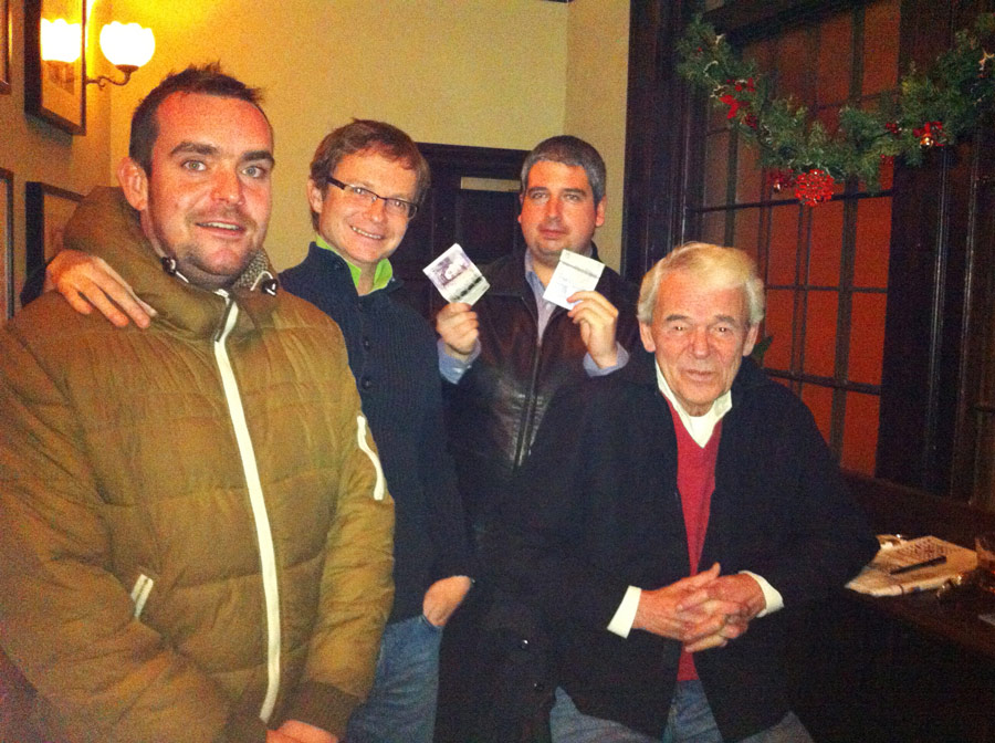 A few of  Lawrence Of A Labia the Christmasd Quiz Winning Team