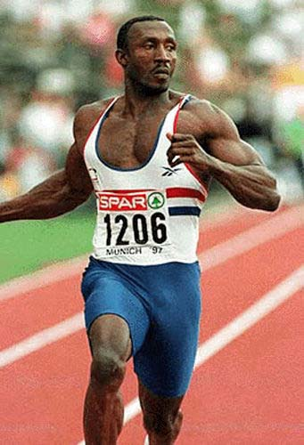 Q28 Who won the gold medal in 1994 for the Men's 100m race at the European Athletics Championship in Helsinki? Linford Christie