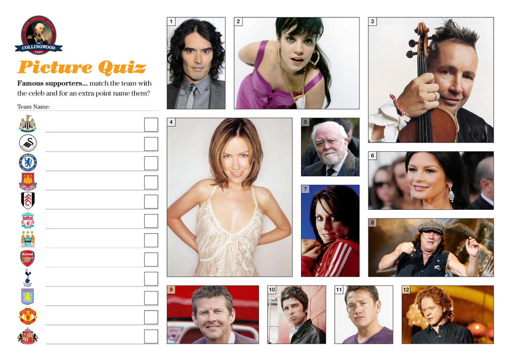 "This weeks clue on the  Quiz Preview  was... ""You may recognise them but who's scores do they look for?"""