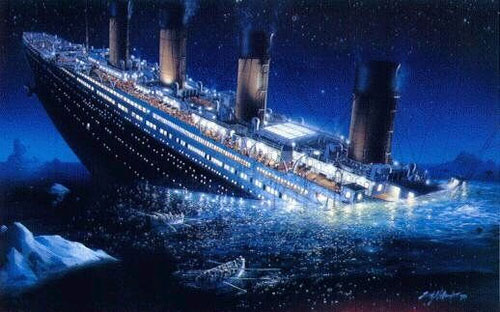 Q8 In which year did the Titanic sink on its maiden voyage? 1912