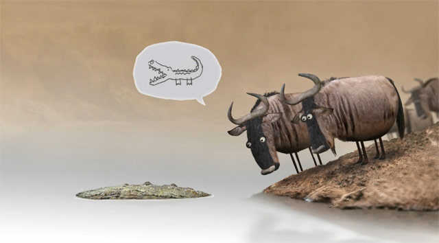 Q8 Which group of bovine mammals can be referred to as a herd but also as an implausibility? Wildebeest or Gnu