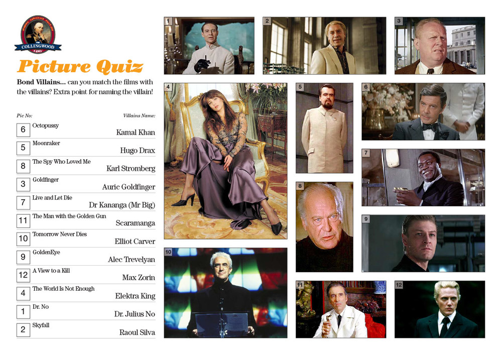 Most teams where either Bond Experts or had sussed the cryptic clue on our  Preview!