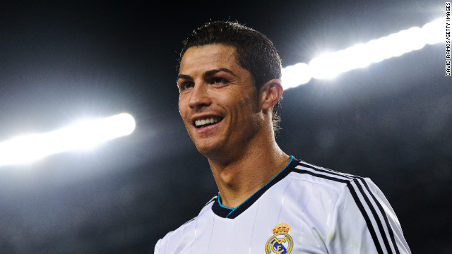 Q30 Which footballers (current superstar's) first transfer fee was two sets of team strips and 20 new footballs when he was sold by CF Andorhina to Clube Desportivo Nacional in 1995? Cristiano Ronaldo who's move to Real Madrid 14 years later cost them £80 million!