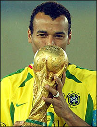 Q15 Which Brazilian is the only player who has played in three World Cup final matches? Cafu (Pele has three winners medals but was injured for the 1962 final)