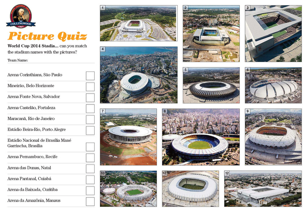 "The clue on the Preview this week was   ""Since the 12th of June we've seen some great games from each of these venues""    unless our Quizzers were Stadia experts they needed to do some pre-Quiz swotting up!"