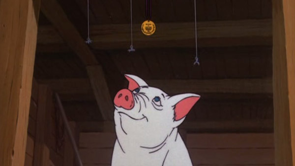 Q33 What type of animal is Wilbur in the 1973 animated movie Charlotte's Web? Pig