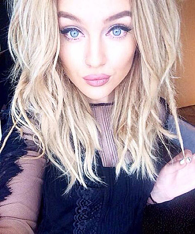 Q17 One Direction's Zayn Malik became engaged to which Little Mix member in August 2013? Perrie Edwards