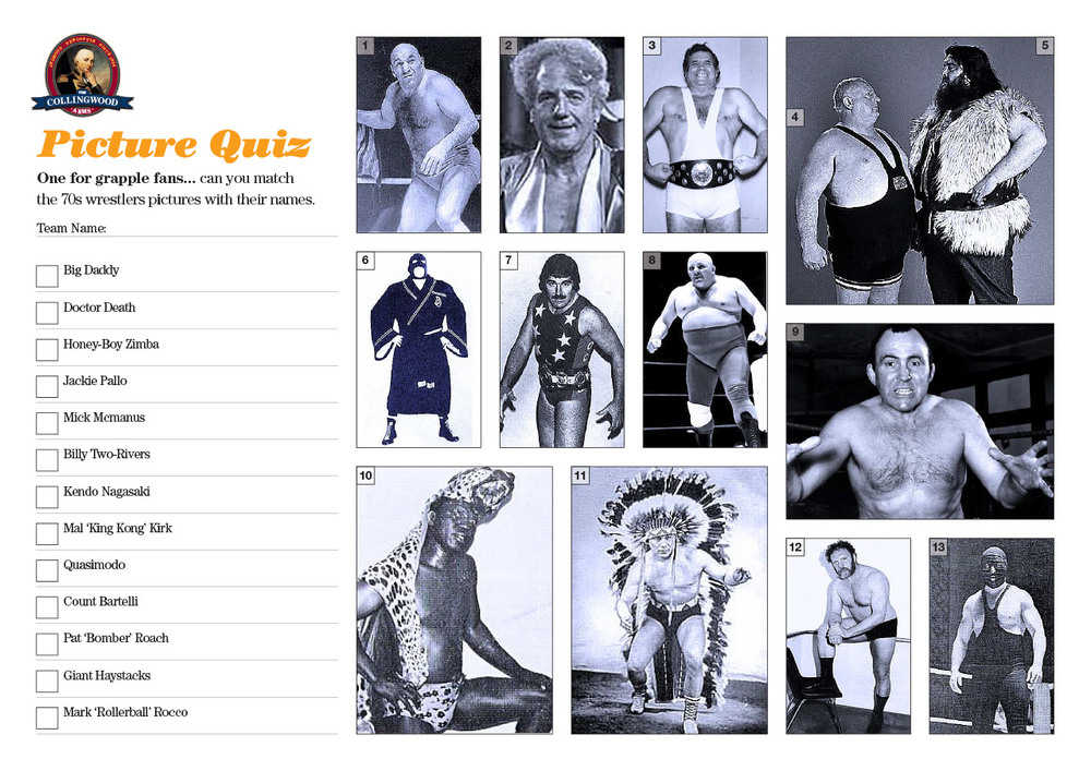 """Inspired by one of the Quiz 126s questions... Seventies Wrestlers. The clue on the  Preview  was   """"In the seventies my Granny used to love a good grapple on a Saturday afternoon"""""""