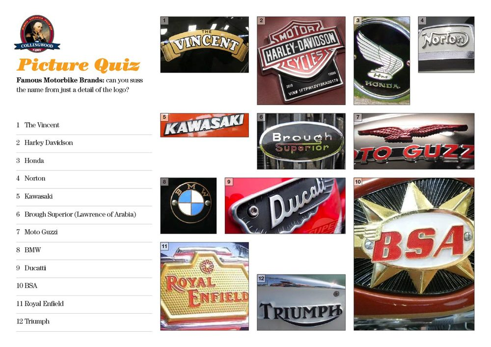 Here's the motorcycle badges in all their glory. Most teams did fairly well.