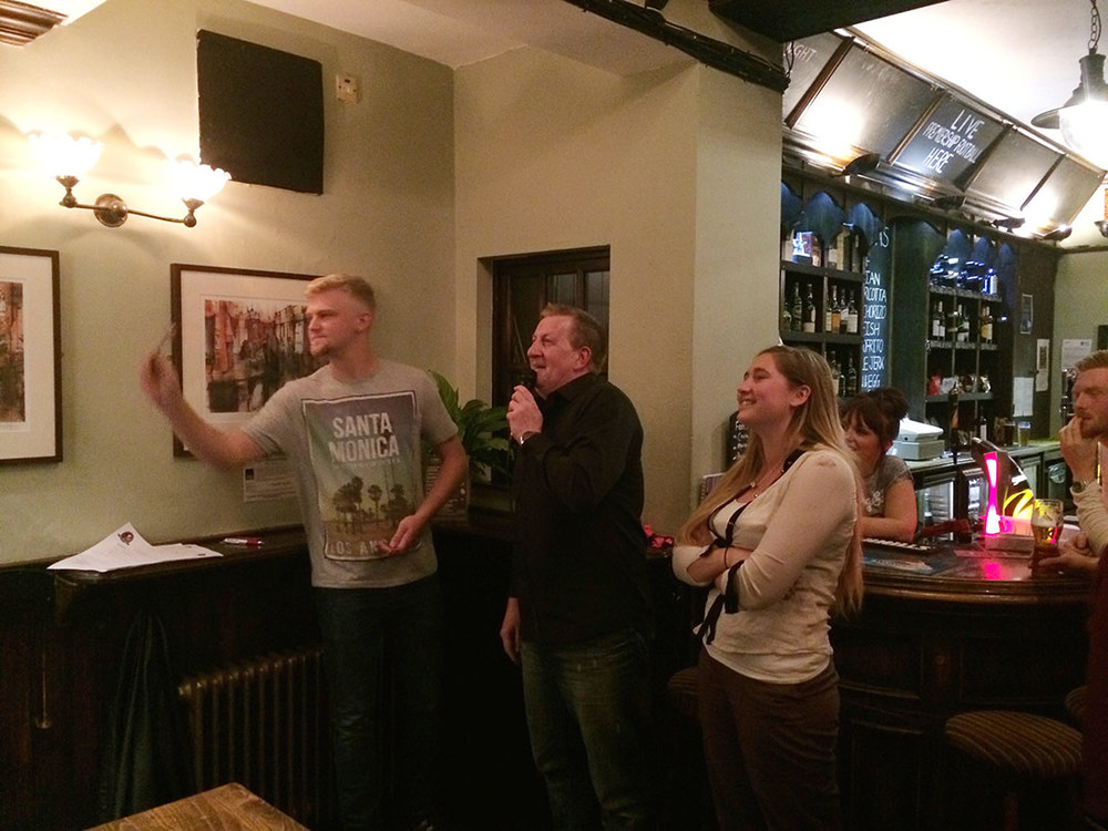 David was up to the oche first.