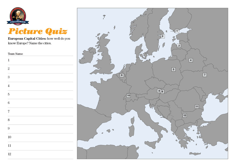 "The clue for the Picture Round on the  Quiz Preview  was ""Fancy touring around Europe? What a Capital idea!"""
