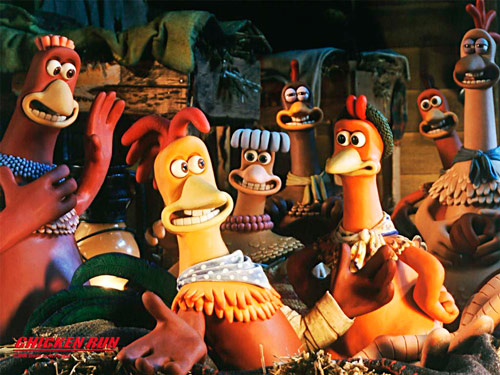 "Q34 ""Escape or die frying"" was the tagline to which animated film released in 2000? Chicken Run"