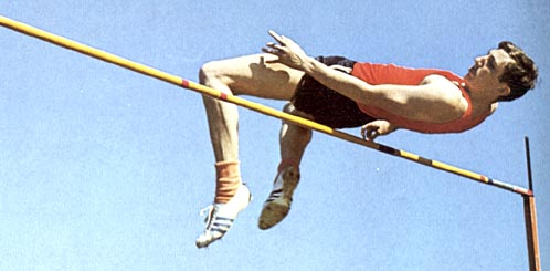 Q21 Which athletics discipline was revolutionised by Dick Fosbury? The High Jump (he developed a new jumping style now known as the Fosbury Flop)