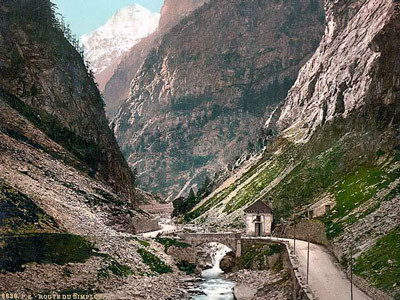 Q5 The Simplon Pass connects which two countries? Switzerland and Italy