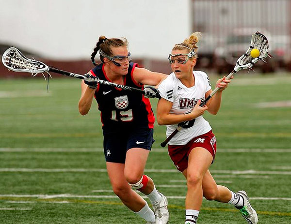 Q26 Which field sport involves two teams of 10 men or two teams of 12 women, carrying a netted stick? Lacrosse
