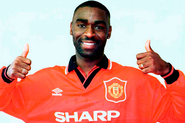 Q29 Who was the first player to score five goals in a Premier League game? And for a bonus who was it against? Andy Cole playing for Manchester United when they thrashed Ipswich Town an embarrassing 9 (nine) - 0