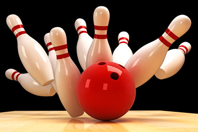 Q30 What is the perfect score in a single game of Ten Pin Bowling? 300