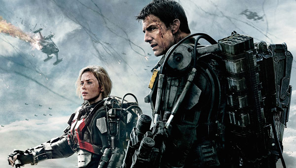 Q36 With a recurring theme along the lines of Groundhog Day plus big guns and aliens, which movie was released this summer starring Emily Blunt, Bill Paxton and Brendan Gleeson amongst others? Edge of Tomorrow, also starring Tom Cruise