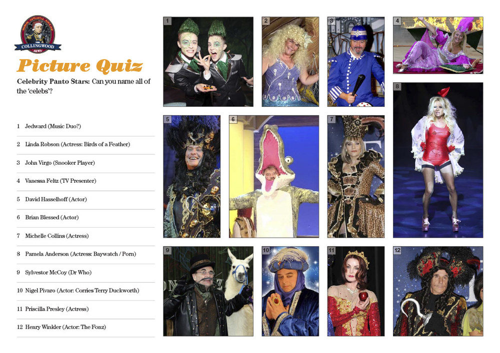 Most of the teams knew their panto stars
