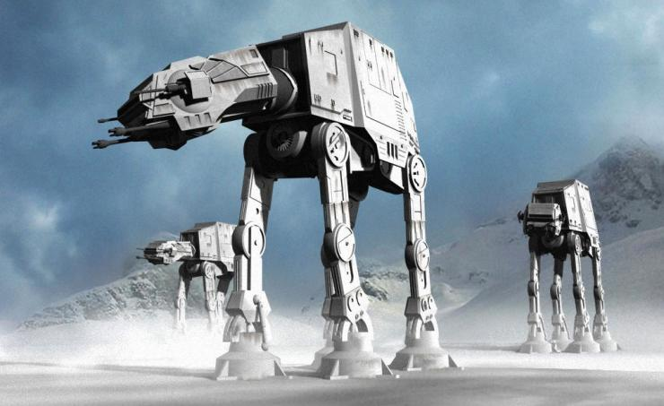 Q37 In Star Wars, an AT-AT also known as an Imperial Walker, is one of the most heavily armoured land vehicles in the Galactic Empires Army. What does the acronym AT-AT stand for? All Terrain Armoured Transport