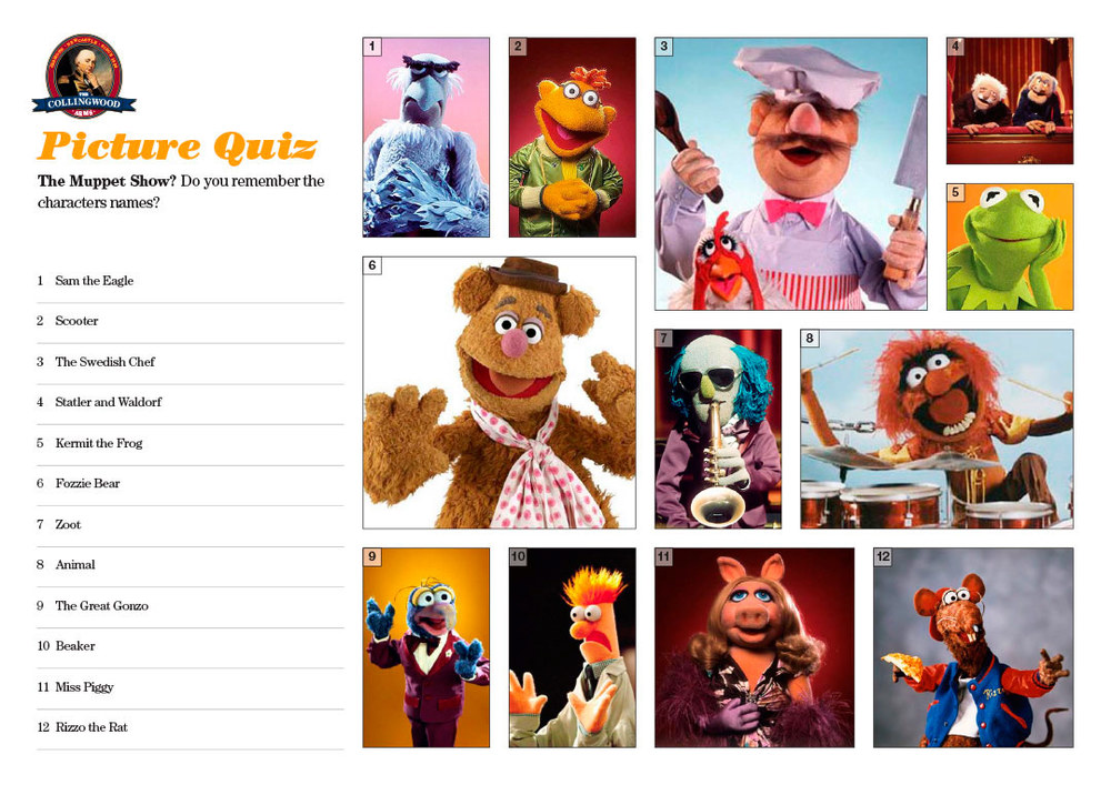We thought The Muppets picture round might go down like a lead balloon but most teams did quite well!