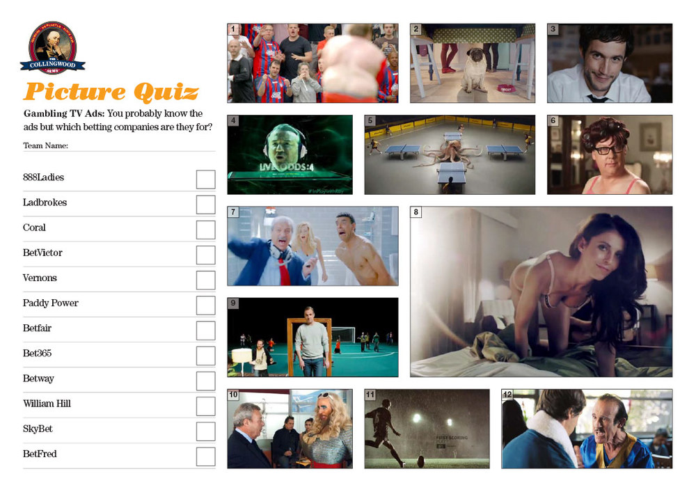 "Our clue on the   Quiz Preview   this week was ""  I'll wager you can't guess who these ads are for!"""
