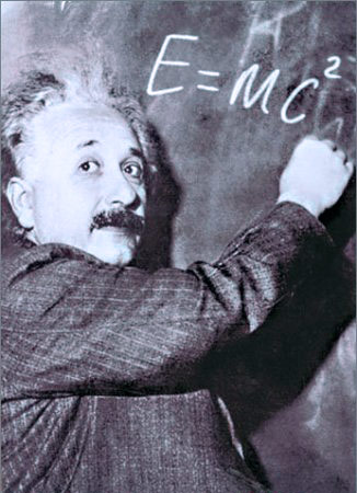 Q3. In Einstein's theory of relativity, E=MC2, what does the letter C represent? And for a bonus point what letter did Einstein originally propose for C? C represents the speed of light in a vacuum (E = Energy and M = Mass) and Einstein originally proposed that this be represented with the letter V... E=MV2 doesn't have quite the same ring to it does it?