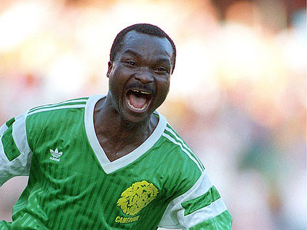 Q26 Who became the oldest goalscorer in World Cup history by scoring against Russia in the 1994 World Cup? And for a bonus point in what country was the World Cup held in that year? Roger Milla at the alleged age of 42 and the World Cup was held in the USA in 1994