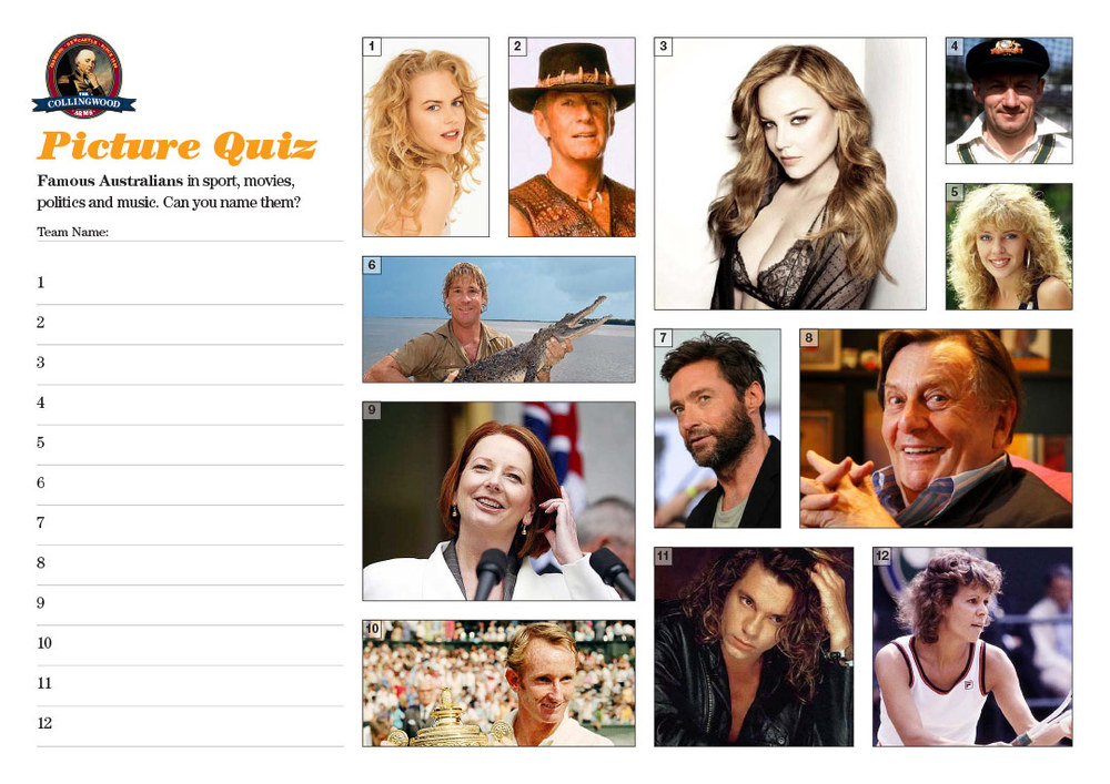 """The Picture Round clue on the  Quiz Preview  this week was """"  Raised down under, recognised all over    """""""